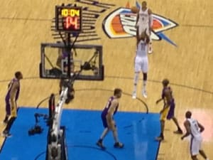 Oklahoma Sports Blog. L.A. Lakers at Oklahoma City. • Clarissa Johnson, photo.