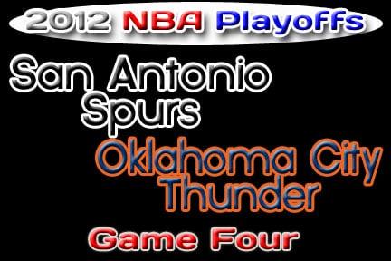 Oklahoma Sports Blog. San Antonio Spurs at Oklahoma City Thunder.
