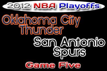 Oklahoma Sports Blog. OKC Thunder at San Antonio Spurs. 2012