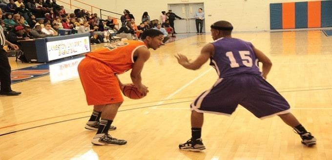 Langston vs. Wiley.  Jan. 21, 2013.  Photo courtesy LU Sports Information.