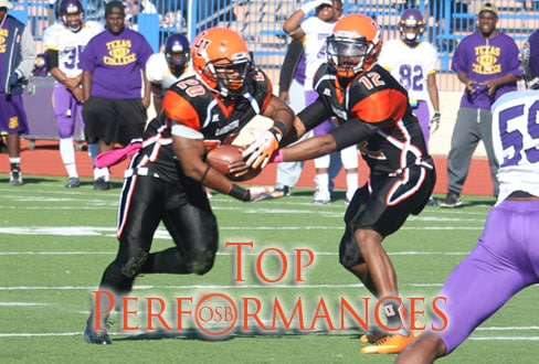 Langston's Mark Wright and Will Taylor.  Photoby Brandon Clemoens/BC Designs, courtesy LU Sports Information.
