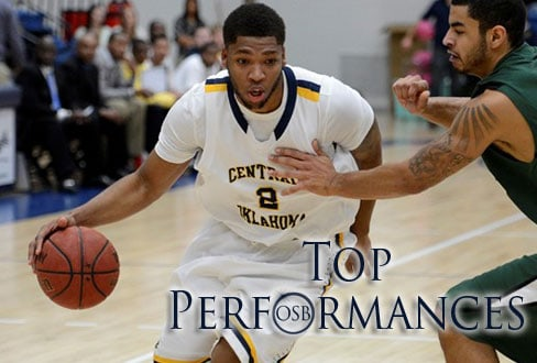 Central's Josh Gibbs/UCO Photographic Services, courtesy UCO Sports Information.