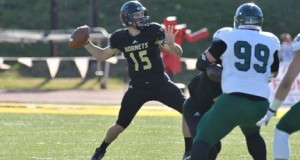 Former Ponca City Wildcat quarterback Brent Wilson, playing now for the Emporia State Hornets.  Photo courtesy ESU Sports Information.