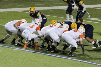 East Central vs. Texas A&M-Commerce in the 2014 Heart of Texas Bowl.  Photo courtesy ECU Sports Info.