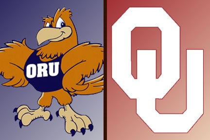 Oklahoma Sooners take on the ORU Eagles in Baseball
