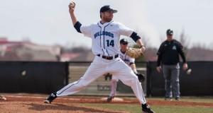 Jon Chidester on the mound. Photo courtesy SWOSU Sports Info.