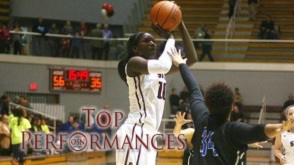 Southern Nazarene's Aminata Fall. Photo courtesy SNU Sports Info.