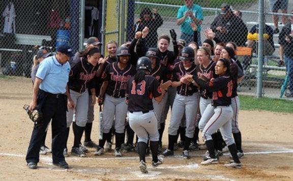 ECU softball at the NCAA Tournament. Photo courtesy ECU Sports Info.