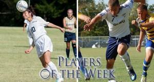 Araceli Flores, photo courtesy SGU Sports Info. Jack McGowen, photo courtesy OKWU Sports Info.