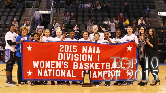 Oklahoma Ciity's women's basketball team celebrates its third national championship in four years. Photo provided by OCU Sports Info.