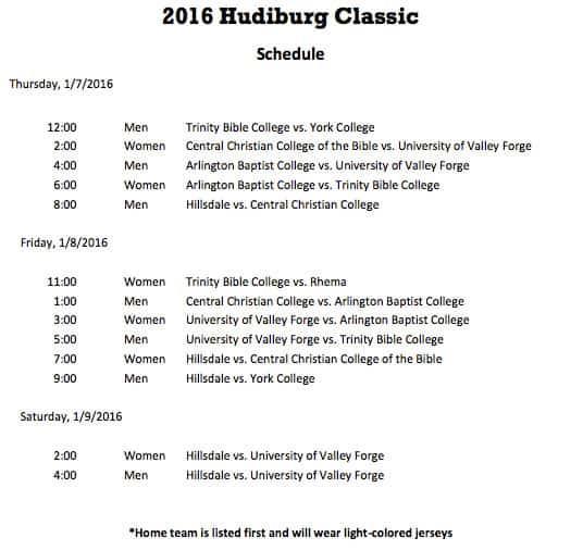 2016-Hudiburg-Classic-Schedule