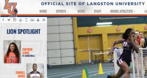 Screen shot of Langston's new site. - OSN