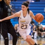 Southeastern's Rachel Wallace set a new Great American Conference scoring record with 48 points at Southwestern, Feb. 18, 2016. Photo by Dan Hoke.