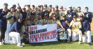 Heritage Hall defeated Berryhill, 2-1, to win the 2016 Class 4A baseball title. Photo courtesy Heritage Hall Athletics.