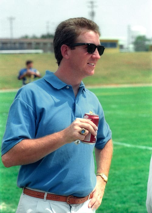 Mike Kirk, circa the early 90's. Photo courtesy UCO Sports Info.