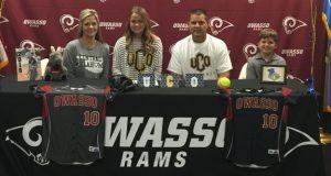 Owasso's Allie Eicher and family. Photo courtesy Owasso Softball.