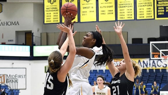 Central's Jesheon Cooper leads the state in rebounds and blocks at the Christmas Break. Photo courtesy UCO Photographic Services.
