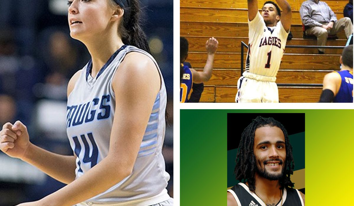 Southwestern's Hayden Priddy, photo courtesy SWOSU Sports Info. Oklahoma Wesleyan's Breiman Alexander, photo courtesy OKWU Sports Info. USAO's Taran Buie, photo courtesy USAO Sports Info.