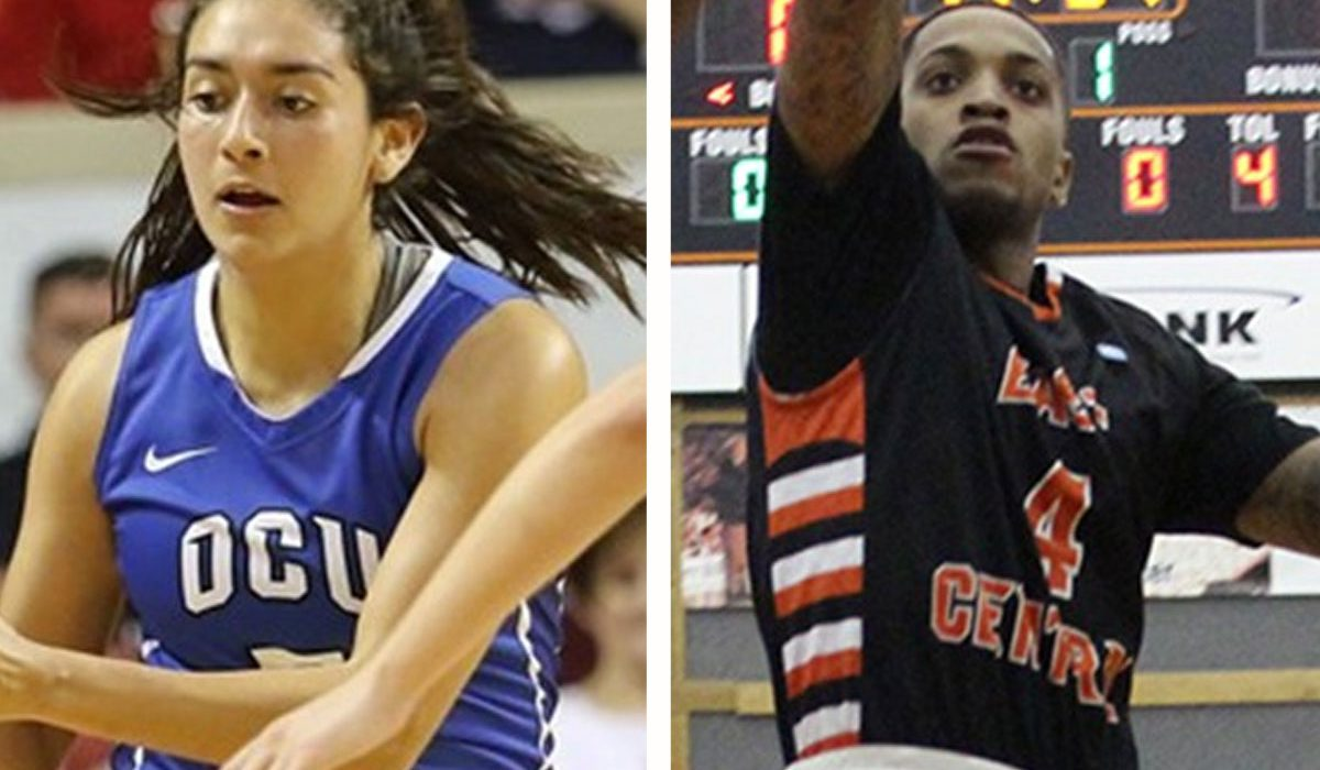Oklahoma City's Daniela Galindo, photo courtesy OCU Sports Info. East Central's Braxton Reeves, photo courtesy ECU Sports Info.