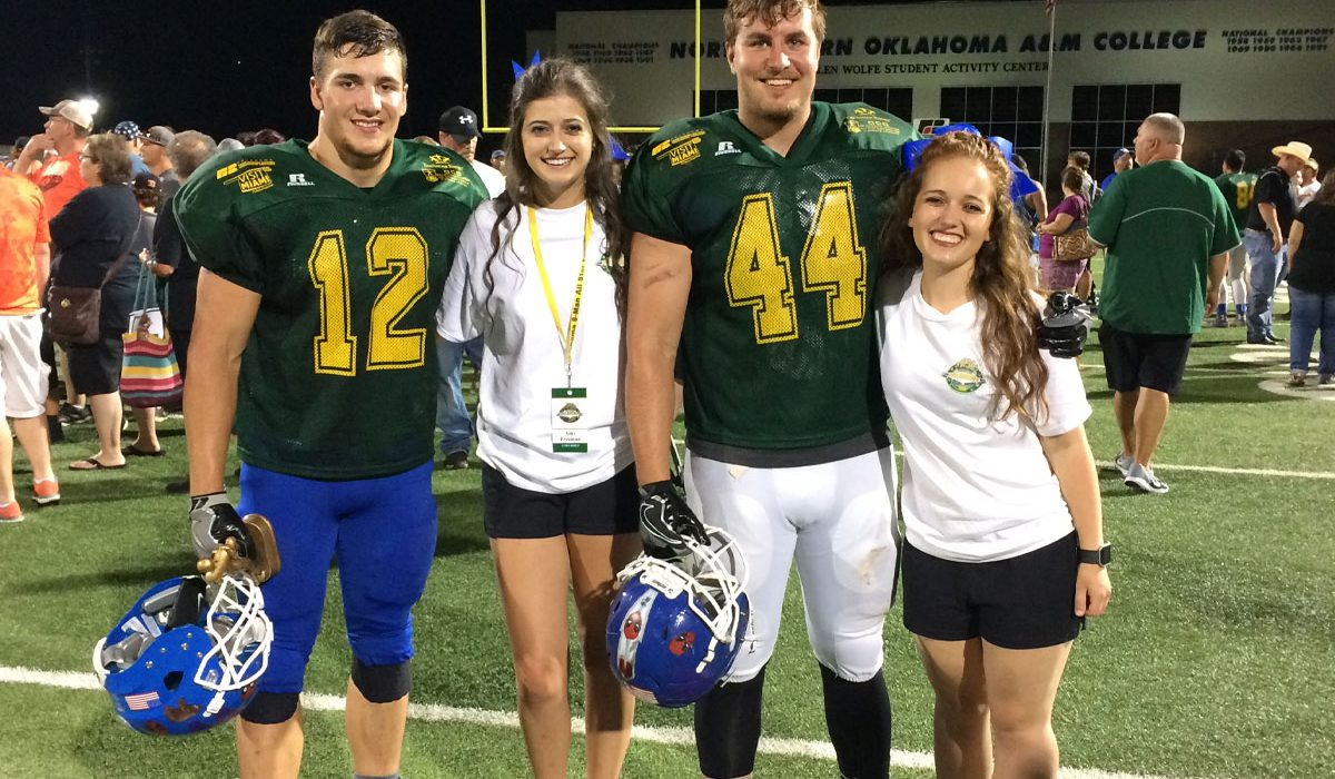 CBA athletes represented at the All-Star game are, from left, Spencer Boese, Amy Freeman, James Vercellotti, and Bailee Brown. Photo by Wesley Javorsky.